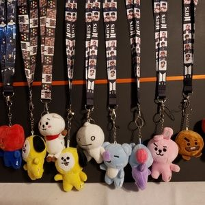 Bts merchandise, lanyards all characters